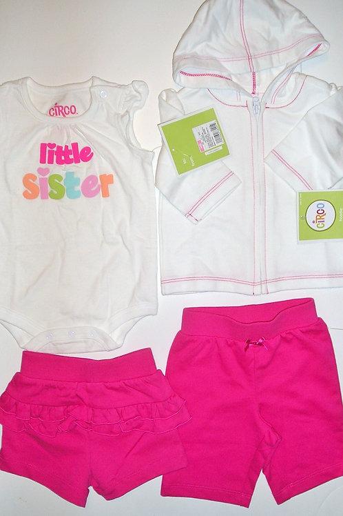 Circo 4 pc set white/pink size N