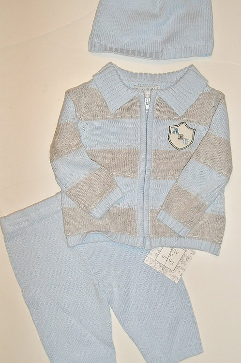 Dylan/Abby blue/gray size 0-3 mos