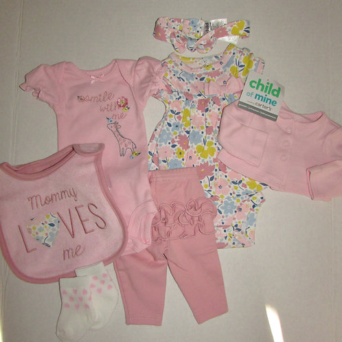 Child of Mine 7 pc set pink/floral size P