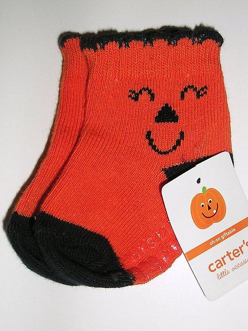 Carters socks pumpkin size N