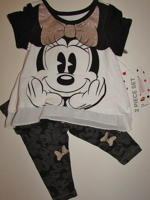 Disney white/black Minnie size 0-3 mo