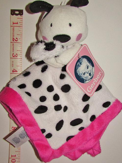 Gerber flc/plush scurity blanki dog pink/white