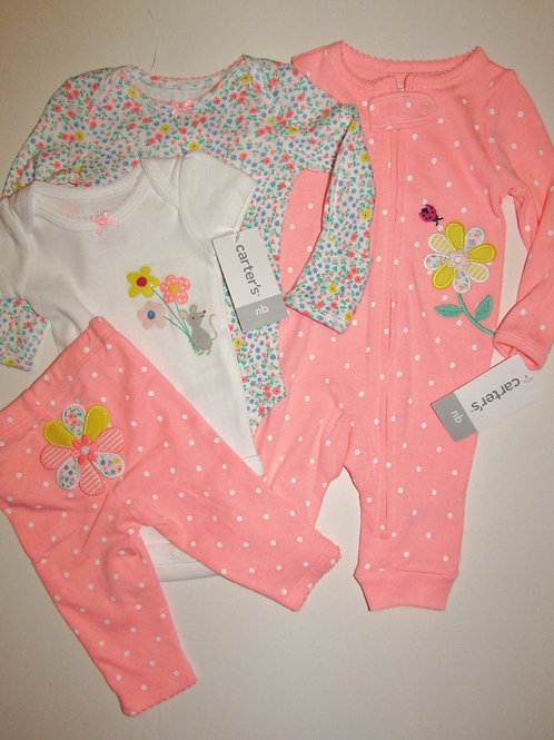 Carters pink/dots size N