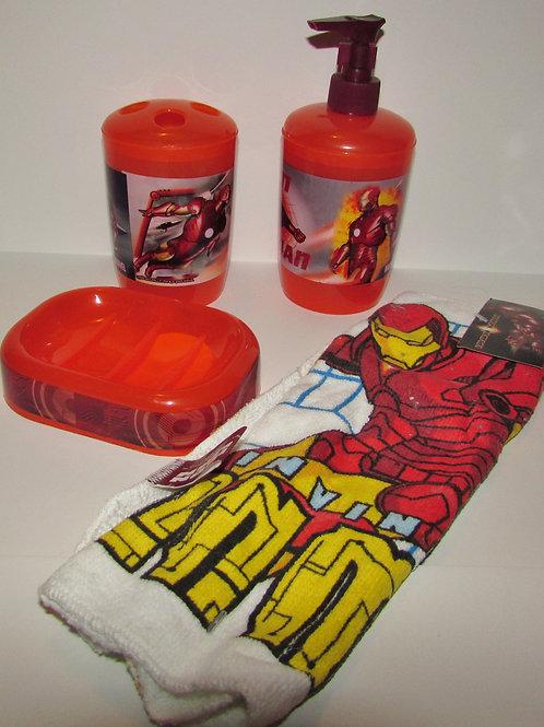 Iron Man 4 pc bathroom set