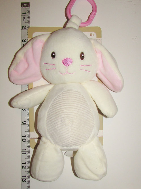 Kelly Baby   plush cream bunny with texture, crinkle ears and rattles