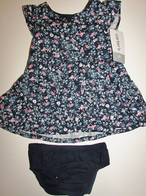 Carters dress navy/floral size N
