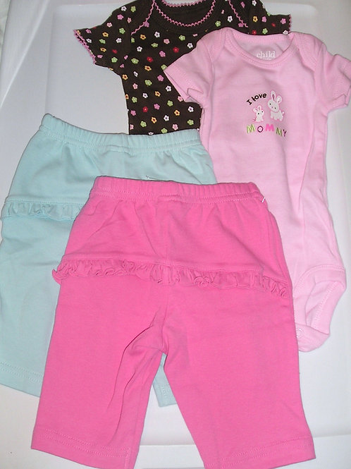 Child of Mine 4 pc pink/aqua size N