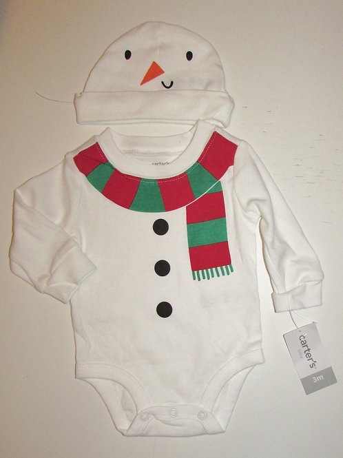Carters set snowman size 3 mo