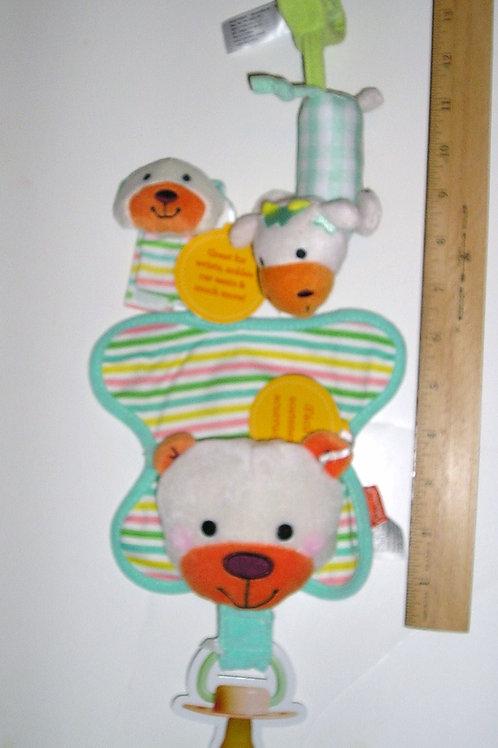 Infantion 3 pc plush activity/paci set