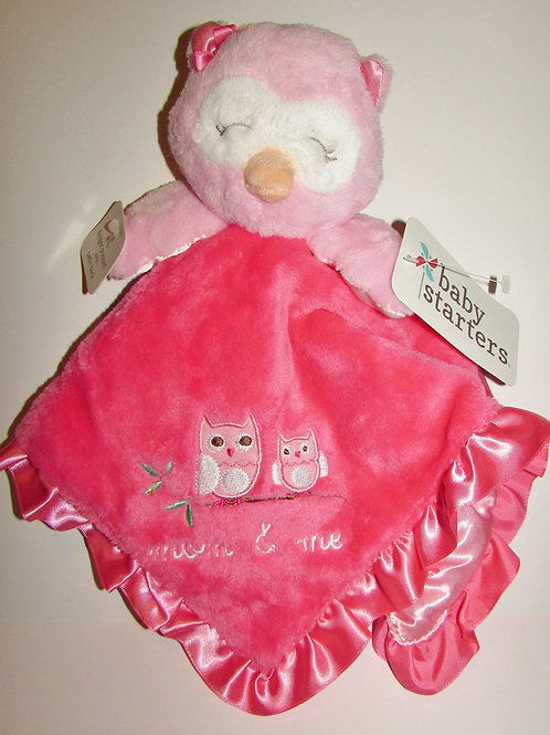 Baby Starers plush security blanki pink/owl/rattles