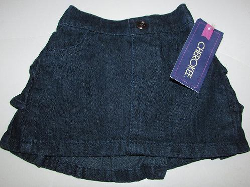 Cherokee denim skirt/ruffle size N
