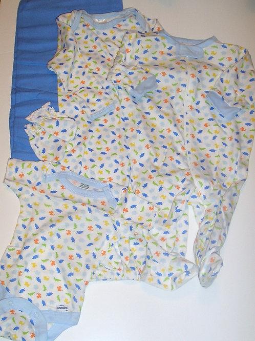 Gerber 5 pc set white/blue/jungle Newborn