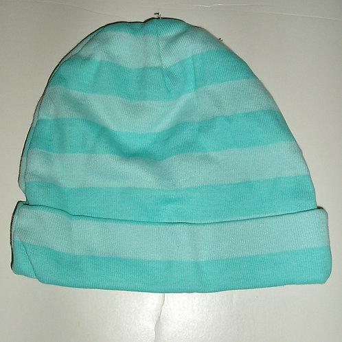 Gerber hat aqua/stripe size 0-6 mo
