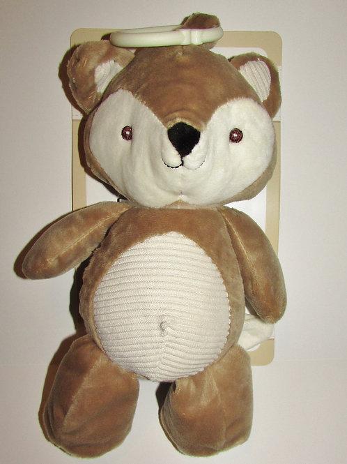 Kelly Baby plush fox tan/cream textured/rattles/crinkle