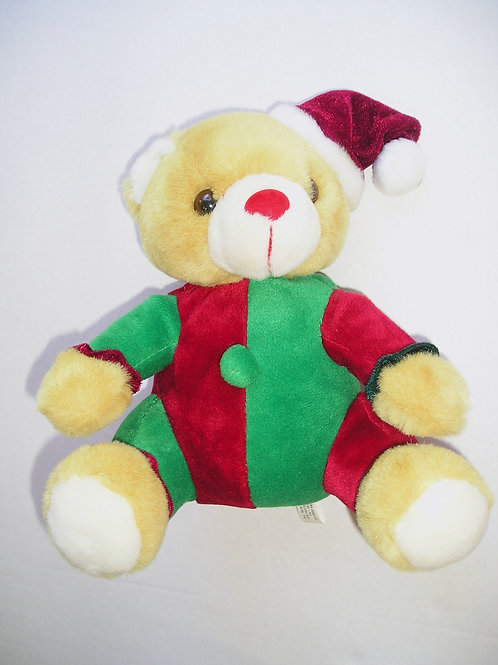 Plush Bear Jester Xmas 8 inches