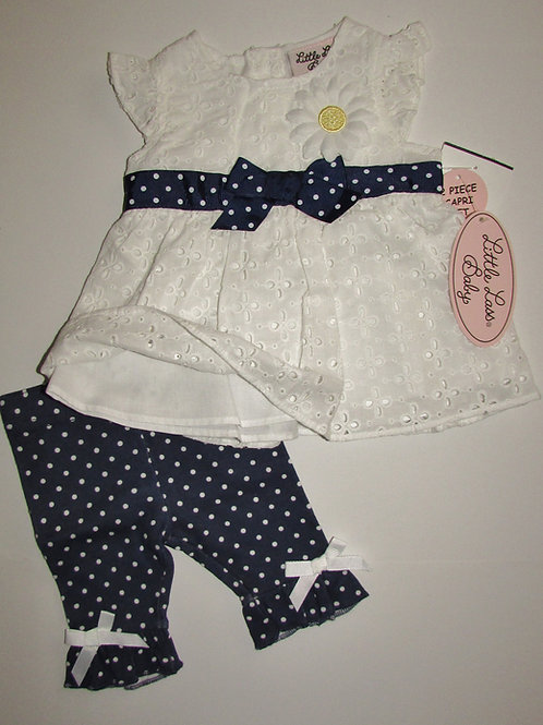 Little Lass Baby dress set size 0-3 mo