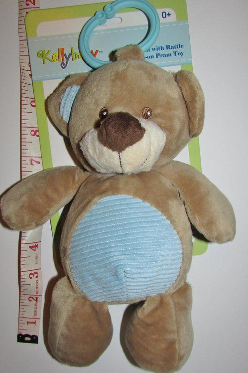 plush bear tan/blue belly