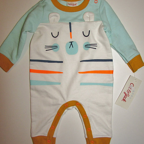 Cat & Jack heavy weight coverall white/multi cat motif size N