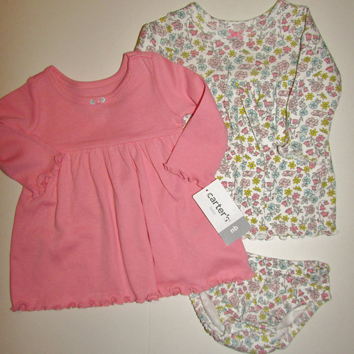 Carters pink/floral size N
