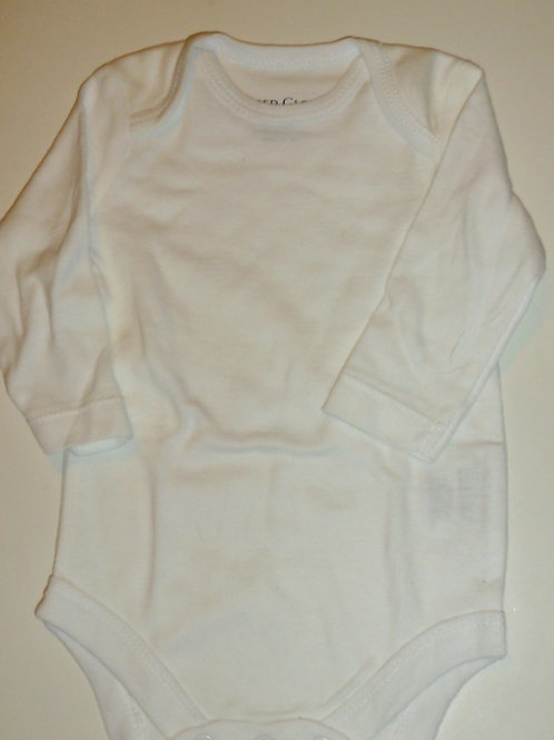 Faded Glory long sleeve creeper white L newborn