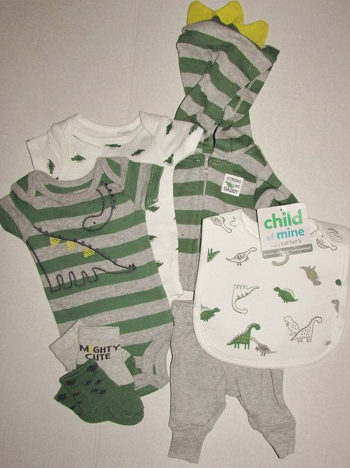 Child of Mine 7 pc set green/gray size P