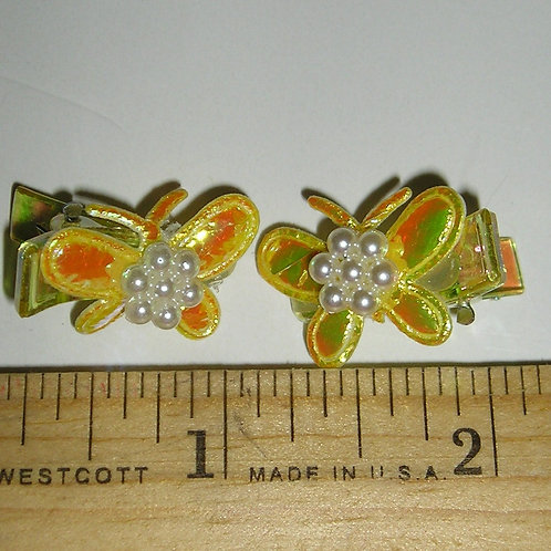 Baby Basic 2 pc clips tiny butterflies size P-SN