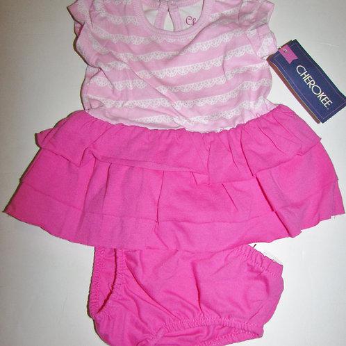 Cherokee dress pink/white size N