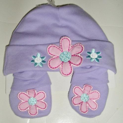 Gerber cap/bootie lilac/flower size N