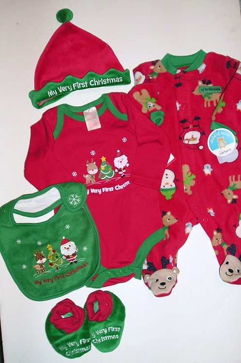Holiday/Child of Mine 5 pc set Santa/Deer 0-3