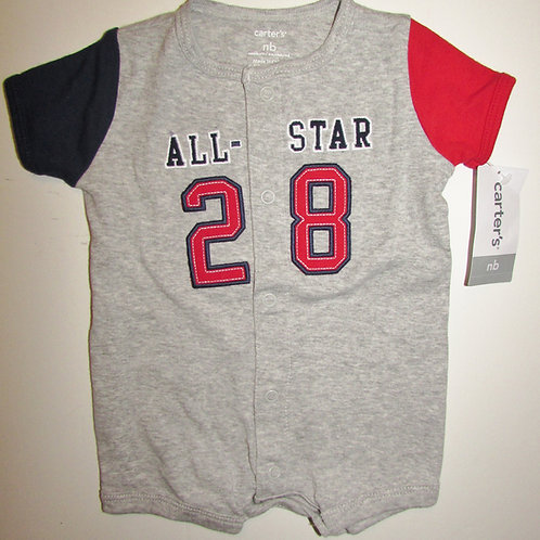 Carters creeper gray/red/blue all star 28 motif size N