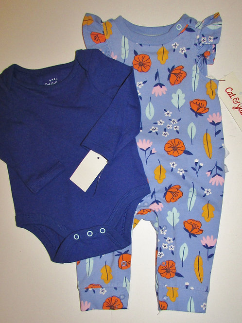 Cat & Jack set floral size N