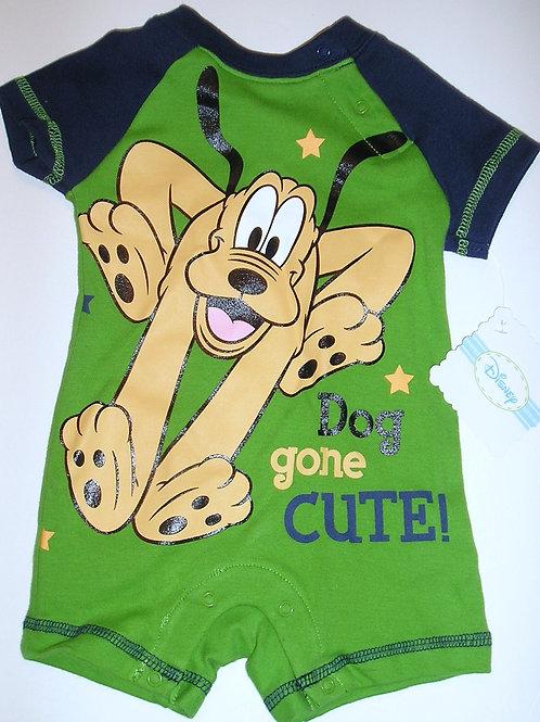 Disney Pluto green size 0-3 mo