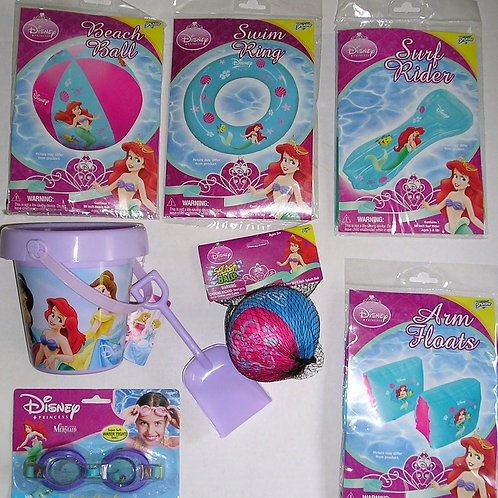 Disney 7 pc water play set Ariel motif