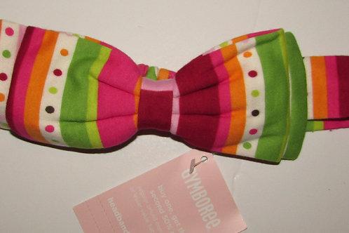 Gymboree headband multi stripe/bow size 0-6 mos