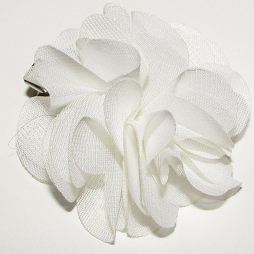 Basic floral barrette white