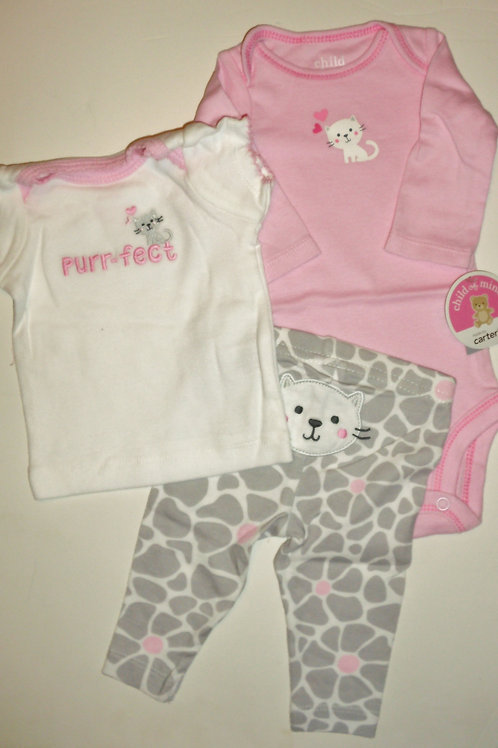 Carters pink/gray size N