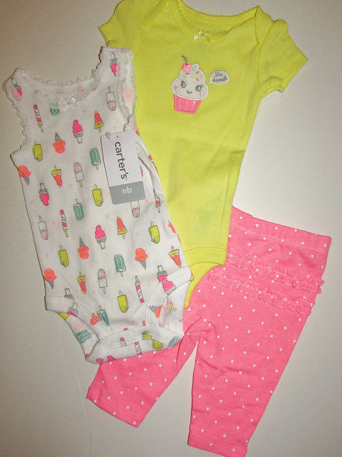 Carters pink/yellow size N