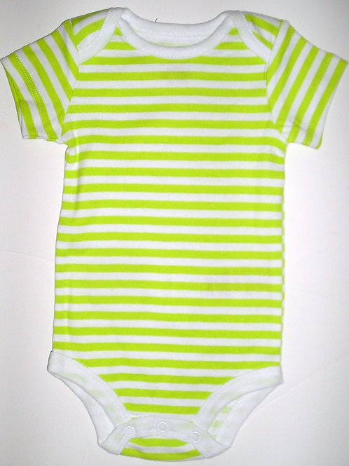 Baby Starters creeper green/striped 0-3 months
