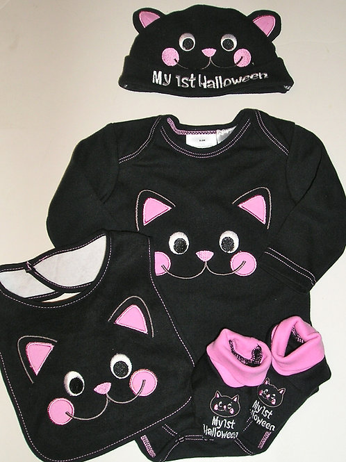 Holiday Time black/cat size 0-3