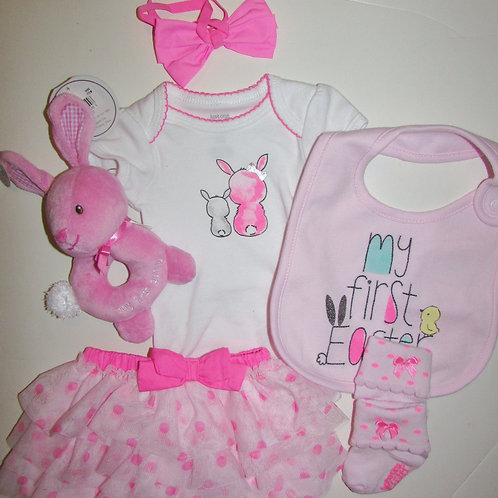 Just One you 6 pc set white/pink Easter size N