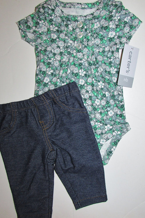 Carters green/denim size N