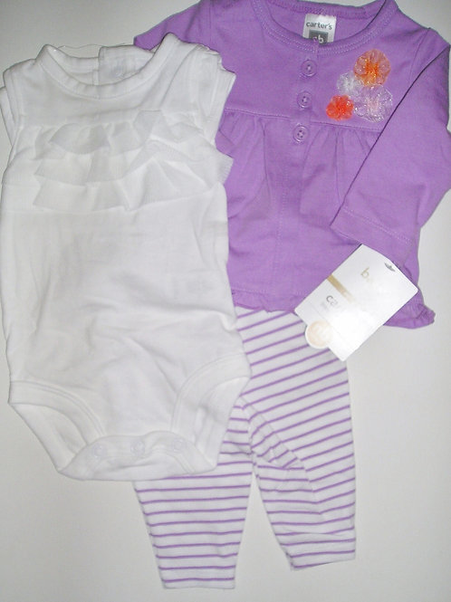 Carters purple/white site N