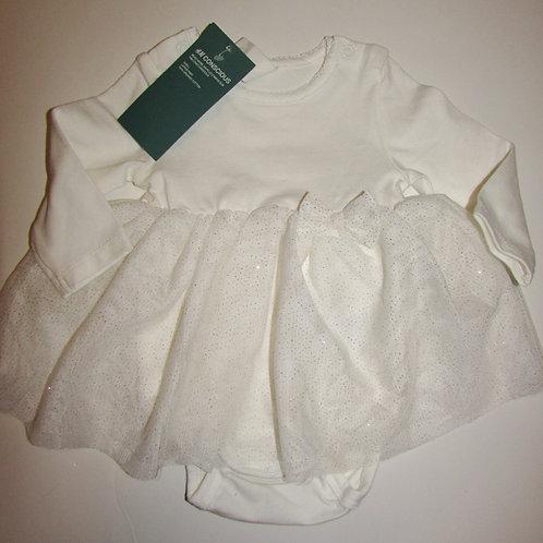 H&M dress/cream size 6 mos