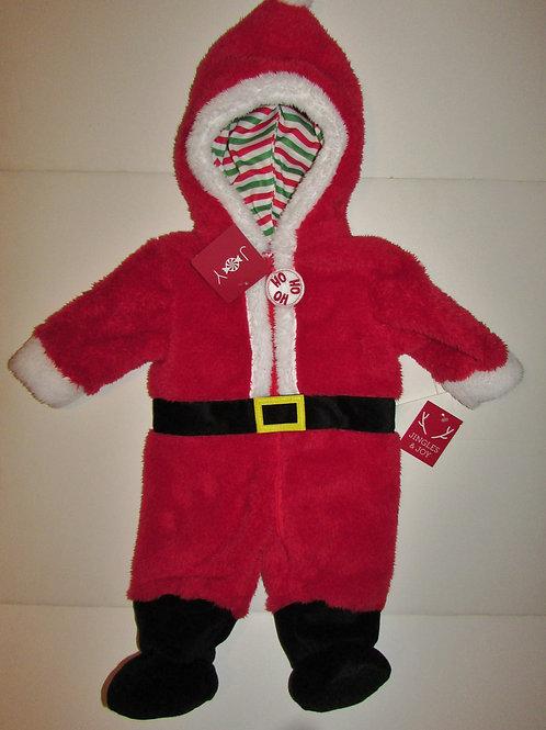Jingle Joy fleece pram suit Santa motif red/white size 3-6 mo (runs smaller)