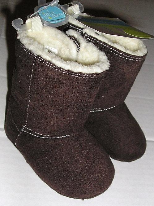 Little Wonders suede/fleece boots brown size 1