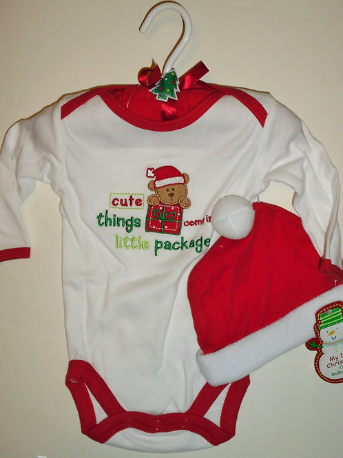 Baby Gear 3 pc set white red/bear size 0-3 mo