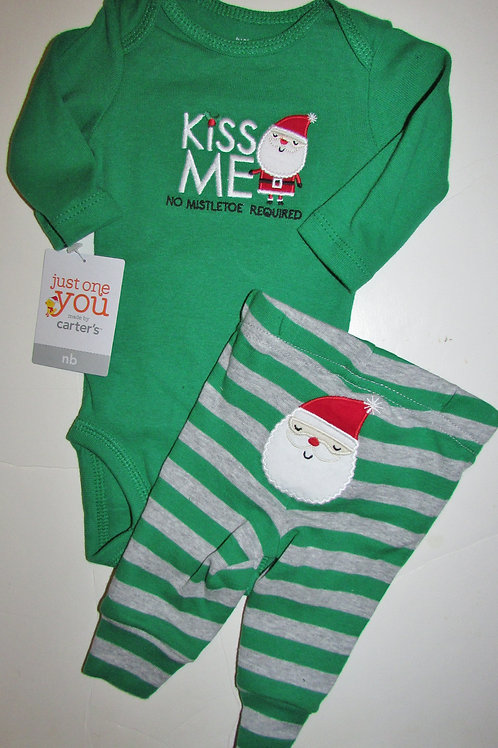 Just One You 2 pc set Kiss Me Santa size N