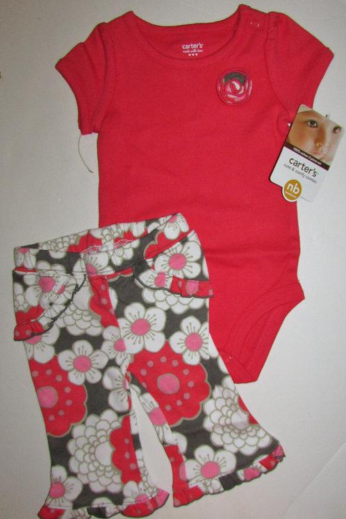Carters orange/floral size N