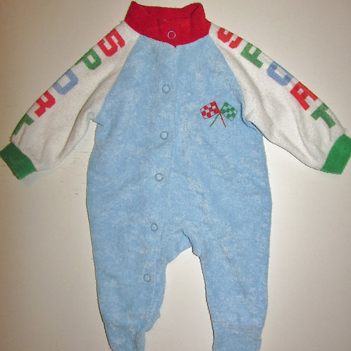 Carters used terry sleeper blue/sports size N (vintage)