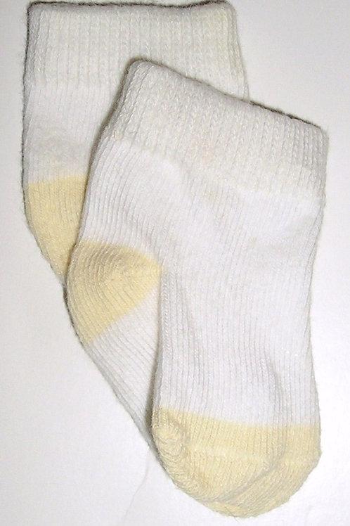 Faded Glory socks white/yellow size LP